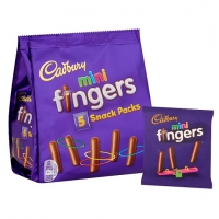 Image of SATURDAY SPECIAL Cadbury Mini Fingers Snack Pack 22g x 5