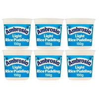 Image of TODAY ONLY CASE PRICE Ambrosia Light Rice Pudding 150g x 6