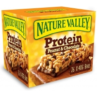 Image of WEEKLY DEAL CASE PRICE Nature Valley Protein Peanut and Chocolate Bar 26 x 40g