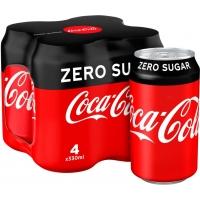 Image of Coca Cola Zero 4 x 330ml