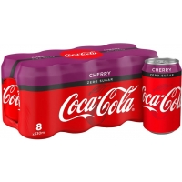 Image of MEGA DEAL Coca Cola Zero Cherry 8 x 330ml