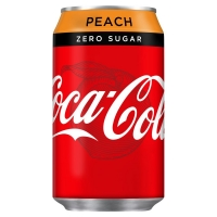 Image of Coca Cola Zero Peach 330ml