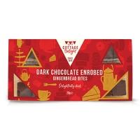 Image of MEGA DEAL Cottage Delight Dark Chocolate Enrobed Gingerbread Bites 250g
