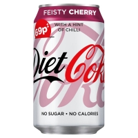 Image of Diet Coke Feisty Cherry 330ml