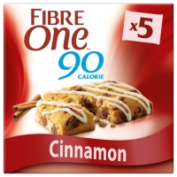 Image of Fibre One 90 Calorie Cinnamon Drizzle Squares 5x24g