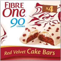 Image of Fibre One 90 Calorie Red Velvet High Fibre Cake Bars 4 x 25g