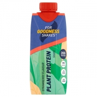 Image of For Goodness Shakes Plant Protein Strawberry Shake 330ml