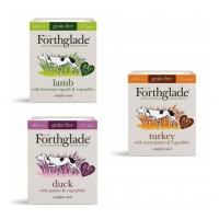 Image of WEEKLY DEAL Forthglade 100 Natural Grain Free Complete Meal Meat Selection Lucky Dip Dog Food 395g