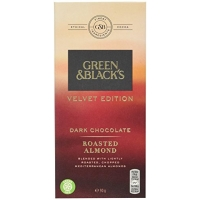 Image of Green and Blacks Dark Almonds Chocolate Bar 90g