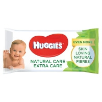 Image of Huggies Natural Care Extra Care Baby Wipes with Aloe Vera 56 Wipes
