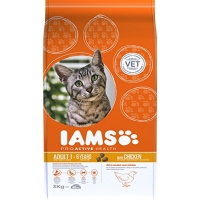 Image of Iams Dry Adult Cat Food with Chicken 3kg