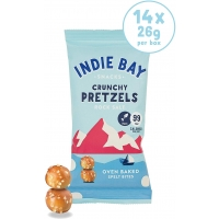 Image of SALE Indie Bay Crunchy Pretzels Rock Salt 26g
