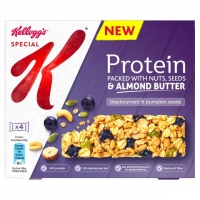 Image of Kelloggs Special K Protein Bar Blackcurrant and Pumpkin Seeds 28g x 4