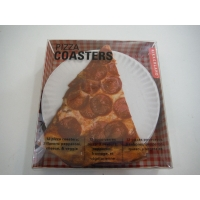 Image of Kikkerland 12 Pepperoni Pizza Coasters