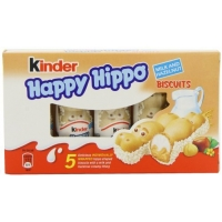 Image of WEEKLY DEAL Kinder Happy Hippo Biscuits Milk and Hazelnut 5 x 20.7g