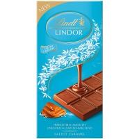 Image of Lindt Lindor Milk Chocolate Salted Caramel Bar 100g