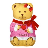 Image of 1P DEAL Lindt Milk Chocolate Teddy Pink 100g
