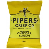 Image of Pipers Crisp Co Lye Cross Cheddar and Onion 40g