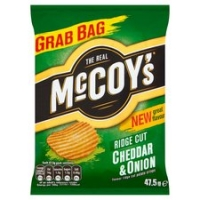 Image of TODAY ONLY Mccoys Ridge Cut Cheddar And Onion Crisps 47.5g
