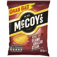 Image of 10 AT 10P Mccoys Ridge Cut Crisps Flame Grilled Steak 47.5g