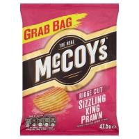 Image of Mccoys Ridge Cut Sizzling King Prawn Flavour Crisps 47.5g