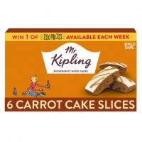 Image of TODAY ONLY Mr Kipling 6 Carrot Cake Slices
