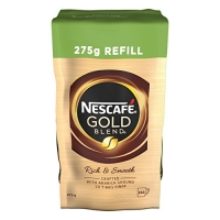 Image of Nescafe Gold Blend Instant Coffee Refill - Rich and Smooth 275g