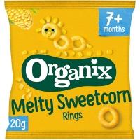 Image of BLACK FRIDAY SPECIAL Organix Crunchy Sweetcorn Rings 20g