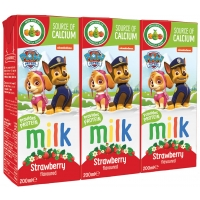 Image of Paw Patrol From 2 Years Strawberry Milk 3 x 200ml
