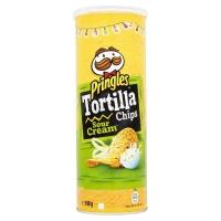 Image of Pringles Tortilla Chips Sour Cream 160g