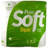 Image of MEGA DEAL Pure Soft Toilet Tissue 9 Rolls