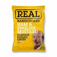 Image of Real Handcooked Ham and English Mustard Flavour Crisps 35g