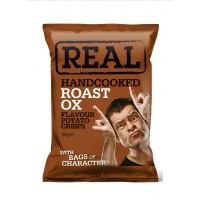 Image of TODAY ONLY Real Handcooked Roast Ox Flavour Potato Crisps 35g