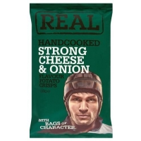 Image of Real Handcooked Strong Cheese and Onion 150g