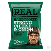 Image of Real Handcooked Strong Cheese and Onion 35g