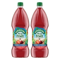 Image of Robinsons Double Concentrate Summer Fruits No Added Sugar 1750ml Twin Pack