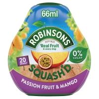 Image of Robinsons Squashd Passion Fruit and Mango On-The-Go Squash 66ml
