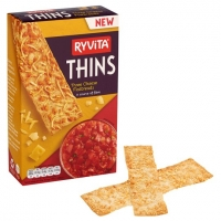 Image of Ryvita Thins Three Cheese Flatbreads 125g