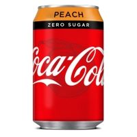 Image of TODAY ONLY Coca Cola Zero Peach 330ml