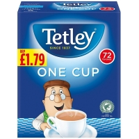 Image of TODAY ONLY Tetley One Cup Tea Bags 72 pack