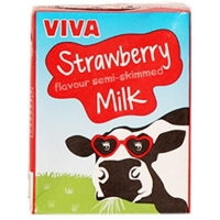 Image of WEEKLY DEAL Viva Strawberry Flavoured Milk 200ml