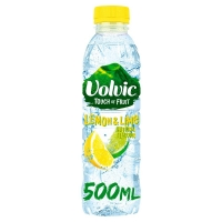 Image of Volvic Touch of Fruits Lemon and Lime Flavoured Water 500ml