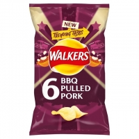 Image of Walkers BBQ Pulled Pork 25g x 6