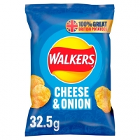 Image of Walkers Cheese and Onion Flavour Crisps 32.5g