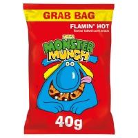 Image of Walkers Mega Monster Munch Flamin Hot 40g