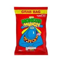 Image of 10 AT 10P Walkers Mega Monster Munch Flamin Hot Snacks 40 g