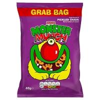 Image of Walkers Mega Monster Munch Pickled Onion Snacks 40 g