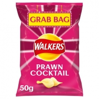 Image of Walkers Prawn Cocktail Flavour Crisps Grab Bag 50g