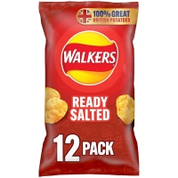 Image of WEEKLY DEAL Walkers Ready Salted Multipack Crisps 12x25g