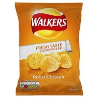 Image of Walkers Roast Chicken Flavour Crisps 32.5g